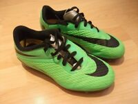 Nike Lime-Green HyperVenom Football Boots Childrens UK Size 1.5