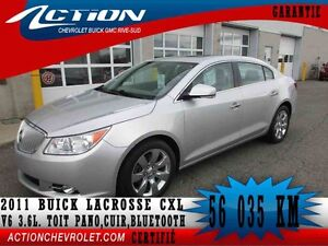2011 BUICK LACROSSE CXL V6 3.6L,CUIR,TOIT PANO,BLUETOOTH