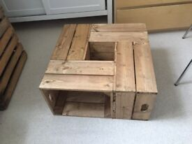 Salon/coffee Table. made from apple crates. rustic/farmhouse