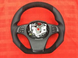 BMW X5 E53 X3 E83 NEW CUSTOM MADE FLAT BOTTOM STEERING WHEEL