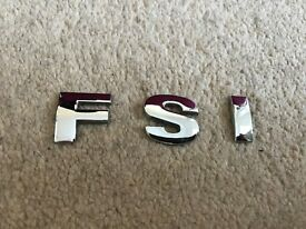 Volkswagen VW FSI badge