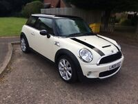 Mini Cooper S, Zennon head lights, fsh,full leather,air con
