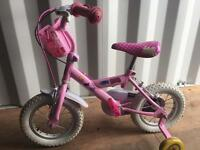 Girls peppy pig bike