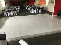 Beautiful White LED Dancefloor for HIRE