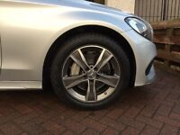 4 x Genuine Mercedes Winter Alloy Wheels & Tyres for C Class W205 AMG Line