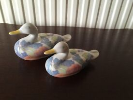 2 Porcelain Ducks NEW IN BOXES