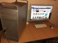 "Apple Mac Pro 2.1 (CPU 8 core/32GB RAM/2TB HDD/Radeon HD6450/23"" Apple Monitor/OS X El Capitan"