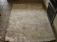 Large Champagne Coloured Shaggy Rug