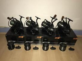 4 x fox fx 9 carp fishing big pit reels