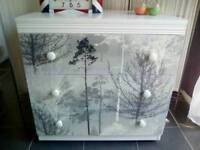 "Stunning ""Silver Trees"" 3 Drawer Chest of Drawers"