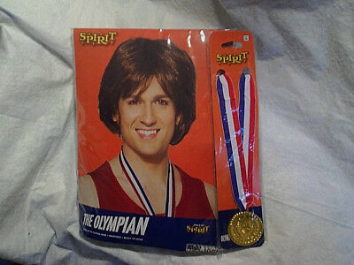 THE OLYMPIAN HALLOWEEN WIG AND GOLD MEDAL COSTUME,Spirit,ages 14+,olympics,boy (Olympic Halloween Costume)