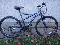 Apollo Gradient blue bike 26 inch wheels, 19 inch frame, 21 gears