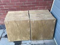 Buff peak riven paving slabs (600mm x 600mm)