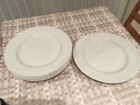Set of six Churchill super vitrified hotelware plates