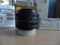 Nikon Lens .. AF Nikkor 50mm f/1.8d