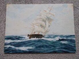 Original seascape painting oil on board
