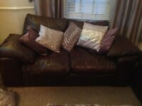 Two and three seater leather sofa. Great condition selling at price due to moving house ASAP.