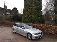 2006 BMW 320D SE SILVER ESTATE TOURING NATIONWIDE DELIVERY, WARRANTY, MINIMUM £200 PART EX, BARGAIN
