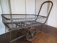 Vintage Metal Garden Cart or Trolley