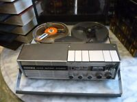 """uher 4200 report Lstereo,lovely reel to reel tape recorder with(44)5""""quality tapes,mic etc,read more"""