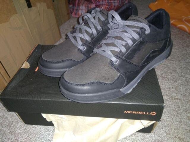 get online best deals on crazy price Merrell Men's BERNER Shift Lace Low-Top Sneakers, Black, 9 UK 43 1/2 EU,  new, £30   in Cambridge, Cambridgeshire   Gumtree