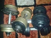 6 x dumbbells 60kg cast plates