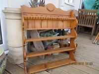 Quality reclaimed Pine plate rack