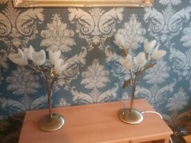 Pair of Brass Side Table Lamps