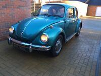 Classic Beetle 1973 1303 MOT'd great easy rolling resto
