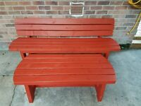 Handmade to order Solid Wood Garden Bench & Table