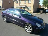 MERCEDES BENZ C200 KOMPRESSOR ONLY 68K FROM NEW WITH FSH MOT JUNE 2017