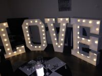 FOR HIRE - 4FT LIGHT UP LOVE LETTERS