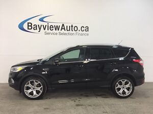 2017 Ford ESCAPE TITANIUM- 4WD! HITCH! ROOF! LEATHER! BLIS! NAV!