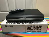 Sky+ HD Box and Remote Controller (Black coloured)