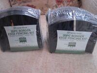 2 packs (unopened) of 20 piece plastic border edge fencing kit.