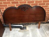 Mahogany headboard for a double bed