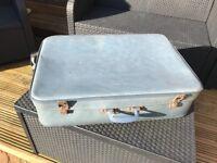 Vintage suitcase-blue
