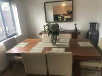 DINING ROOM TABLE 6 CHAIRS SIDEBOARD MIRROR