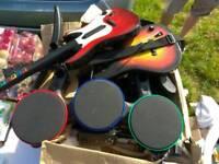 Ps3 guitar hero kit, drumbs and guitars