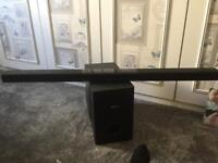 Phillips sound bar and subwoofer