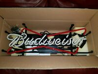 QUICK SALE Budweiser Neon Sign BRAND NEW NEVER USED OR TOOK OUT OF BOX
