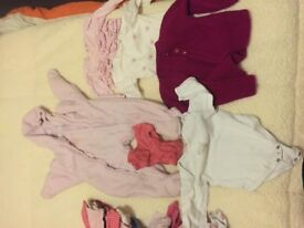 Big bundle of baby girl clothes (6-9)