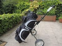 Wilson Golf bag and trundler only used twice