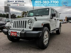 2015 Jeep WRANGLER UNLIMITED SAHARA 4X4, REMOTE START, GPS NAV,