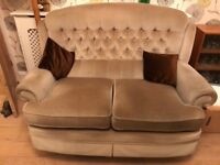 suite 4 piece pale green 3 seat 2 seat arm chair and stool