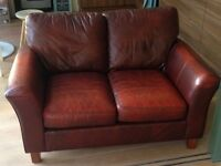 Brown Leather 2 seater sofa from Marks and Spencer
