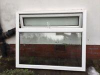 Large double glazed window unit with top opener