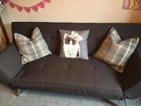 Grey sofa/sofa bed/chaise longue