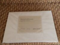 Egyptian cotton pillowcase x 1 (white) - John Lewis