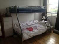 Great condition, sturdy, triple sleeper bunk bed